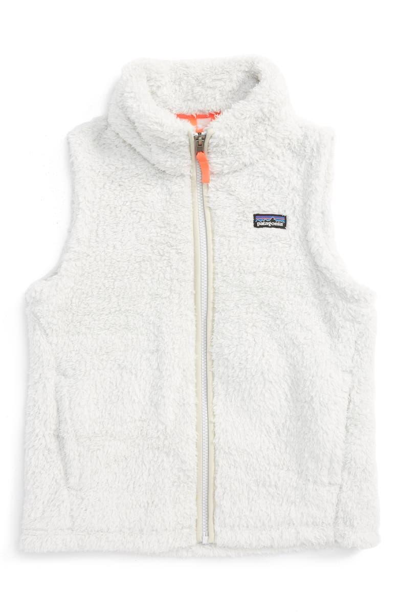 PATAGONIA Los Gatos Fuzzy Fleece Vest, Main, color, 020