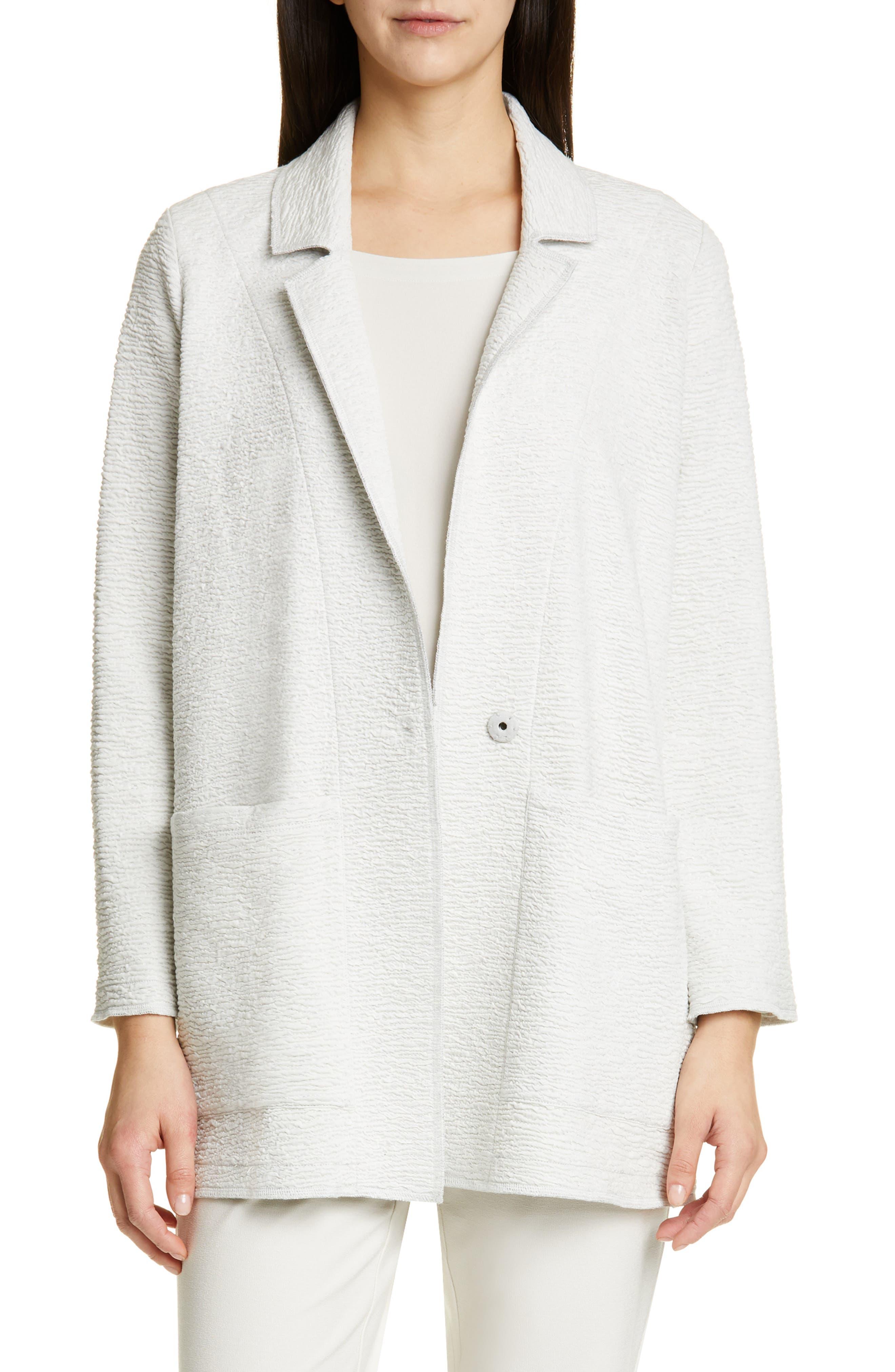 women's eileen fisher notch lapel boxy jacket