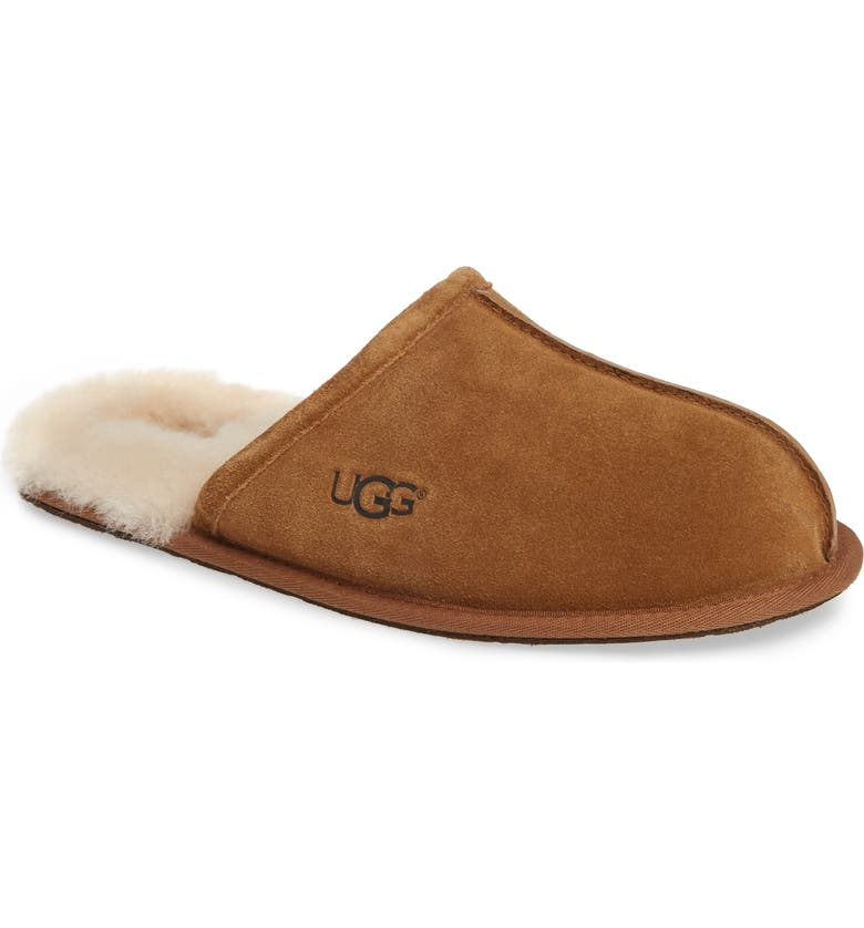 UGG<SUP>®</SUP> Scuff Slipper, Main, color, CHESTNUT SUEDE