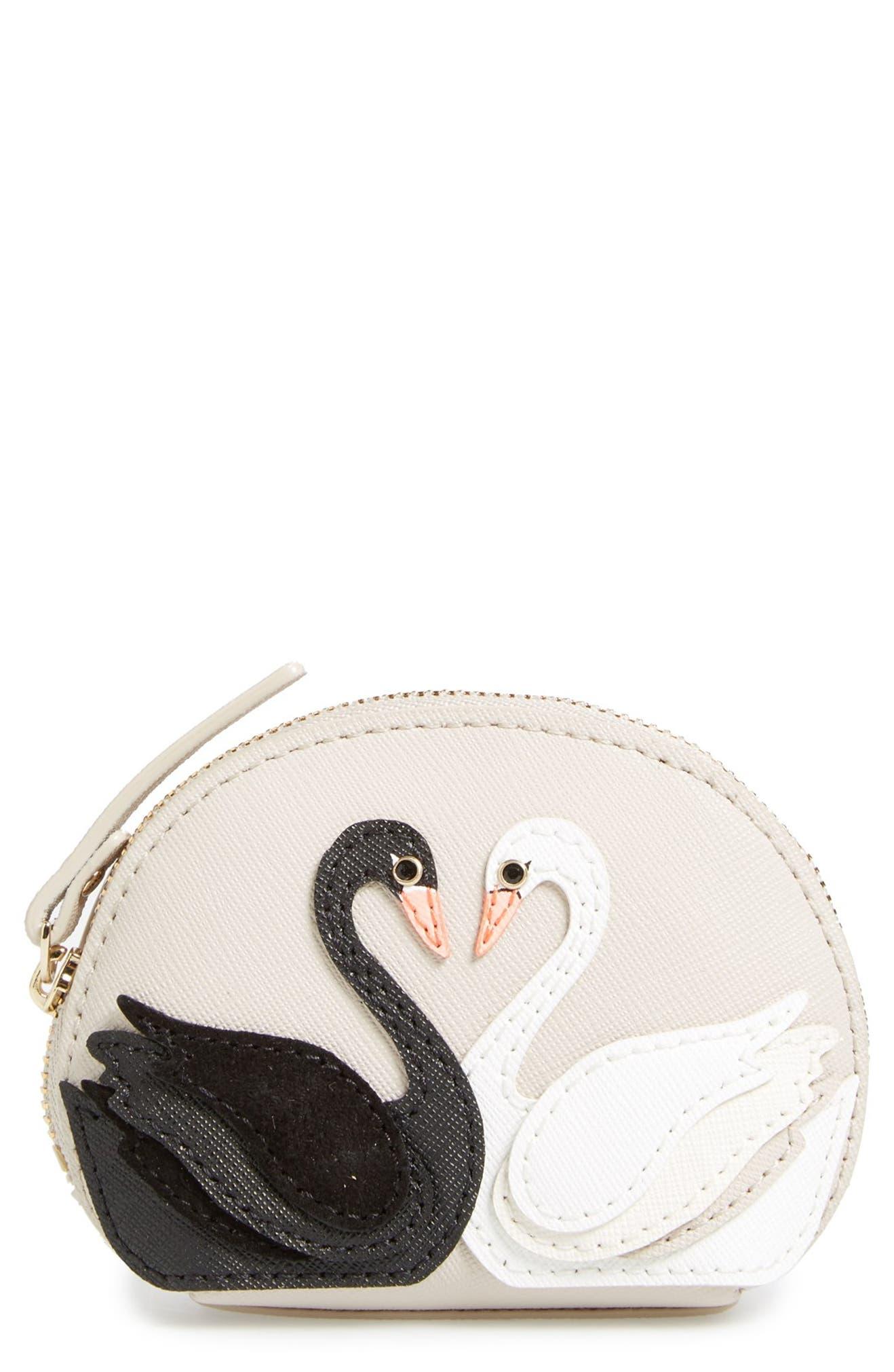 0069b587449e kate spade new york 'on pointe - swan dumpling' coin purse | Nordstrom