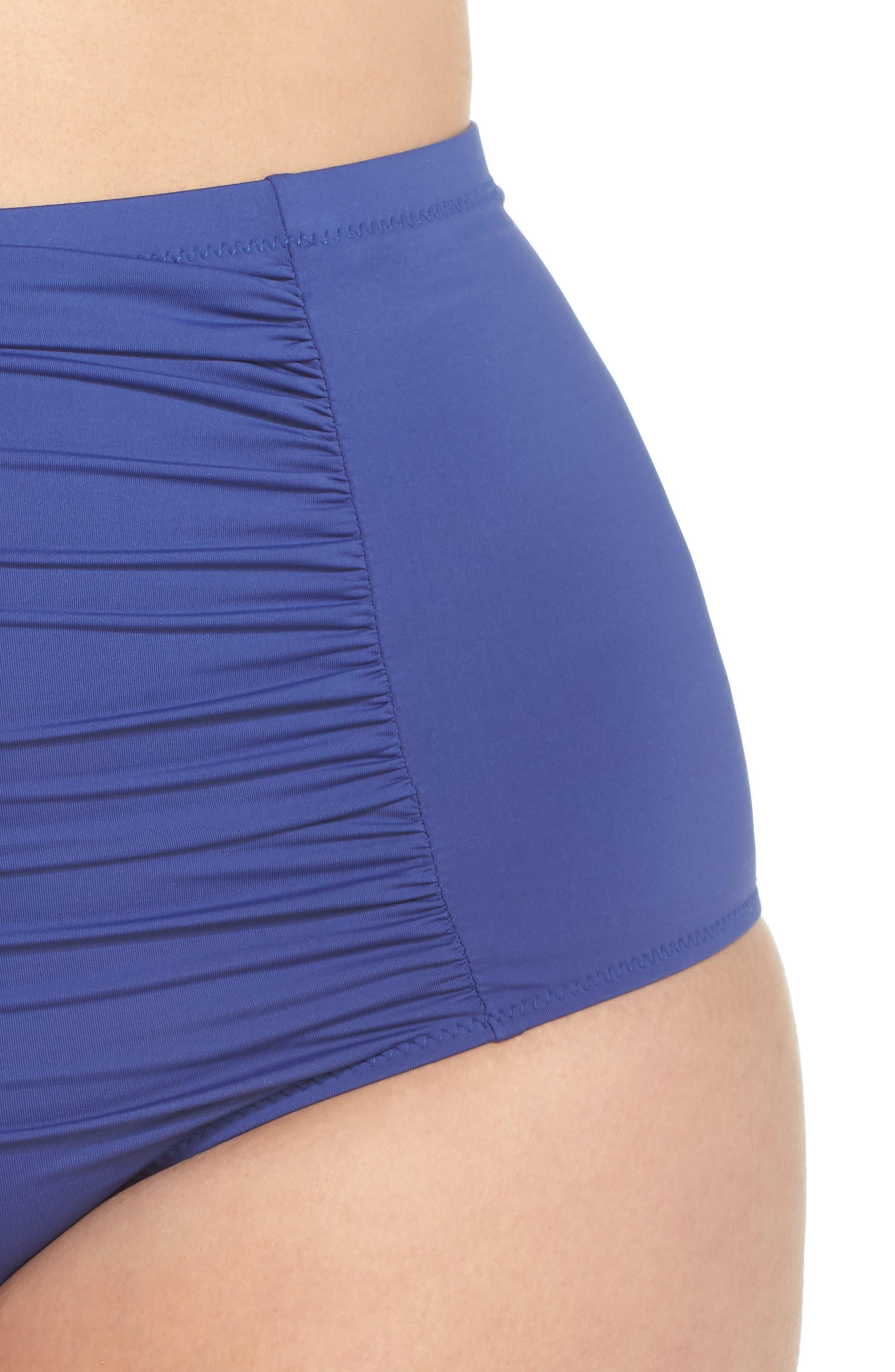 ,                             Color Code High Waist Bikini Bottoms,                             Alternate thumbnail 5, color,                             400