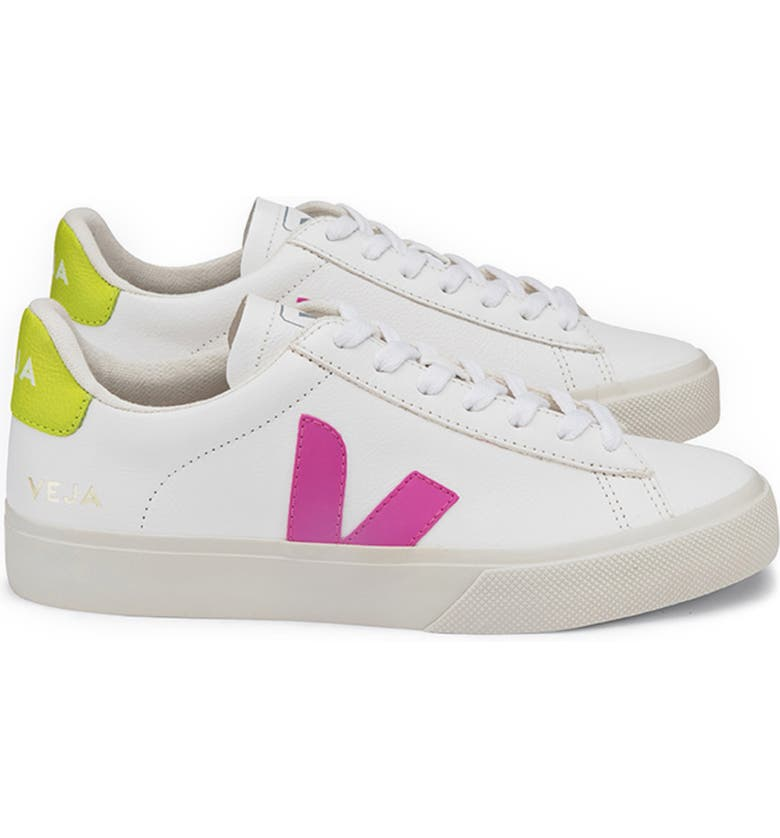 VEJA Campo Sneaker, Main, color, WHITE/ ULTRAVIOLET/ YELLOW