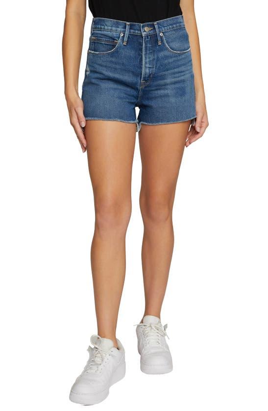 Good American Good Legs Vintage Cut Off Shorts In Blue645