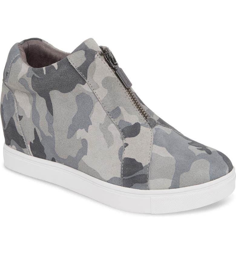 BLONDO Glenda Waterproof Sneaker Bootie, Main, color, GREY CAMO SUEDE