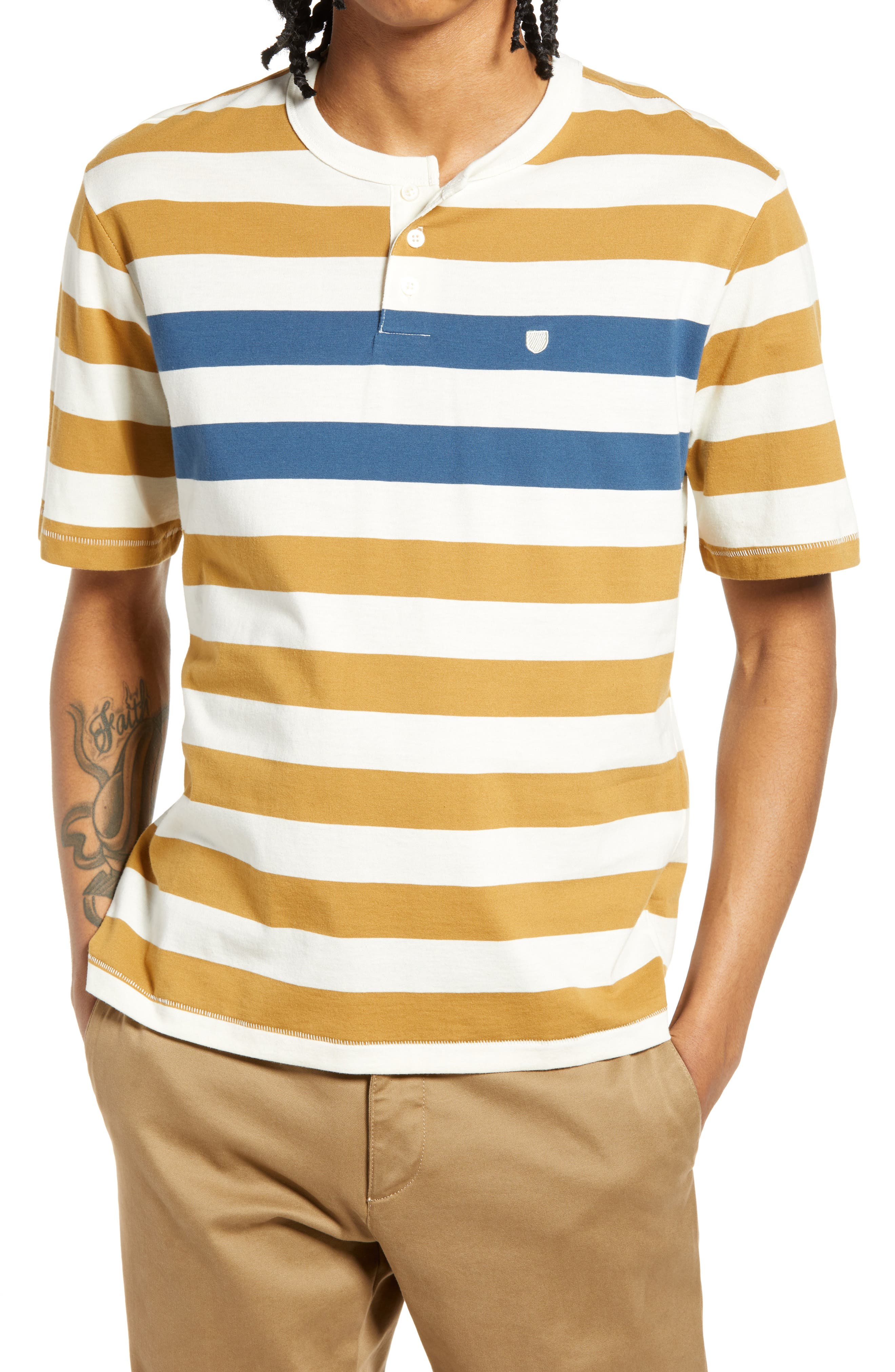 Men's Stripe Henley T-Shirt