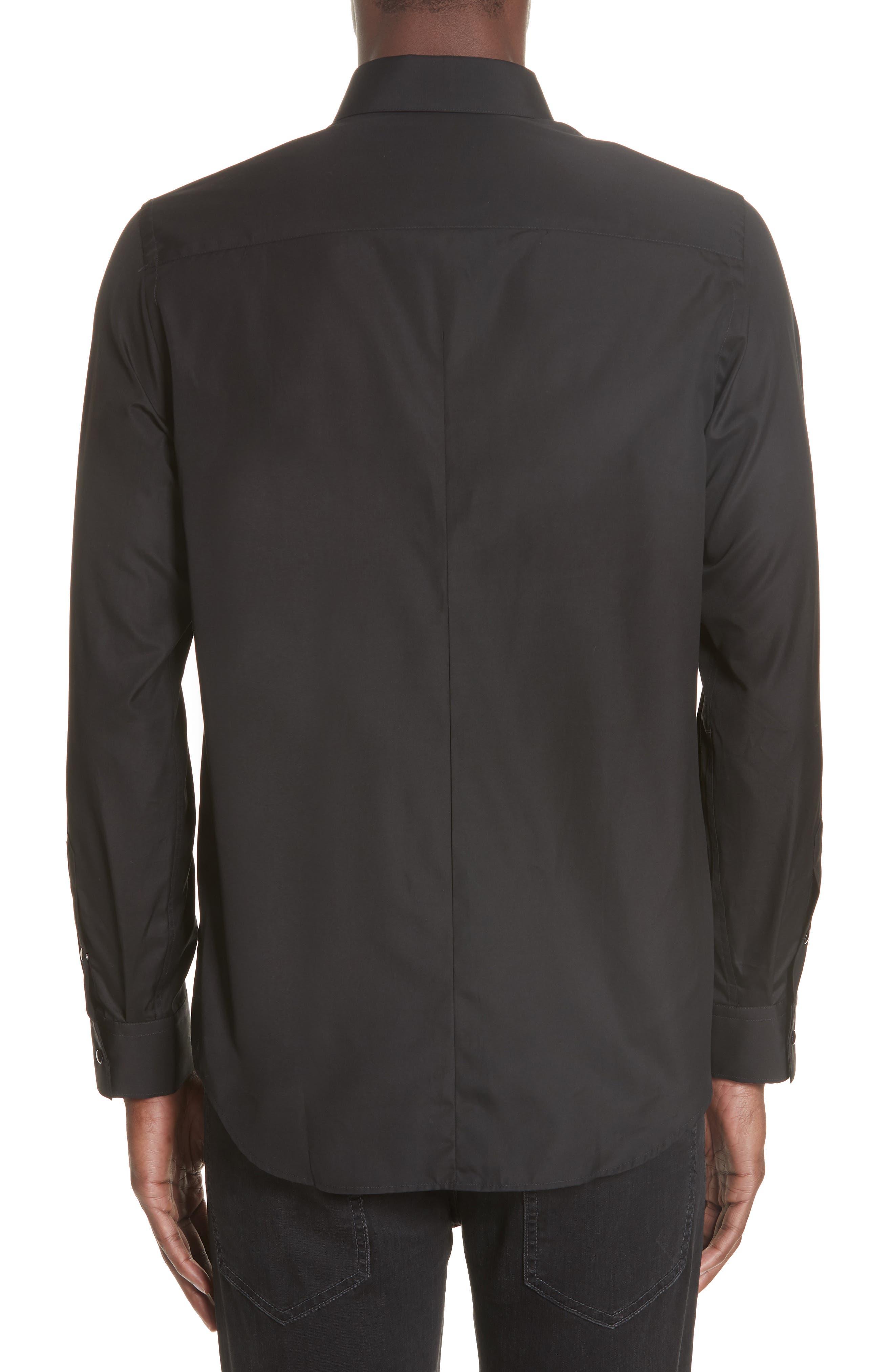 ,                             Woven Shirt,                             Alternate thumbnail 3, color,                             BLACK