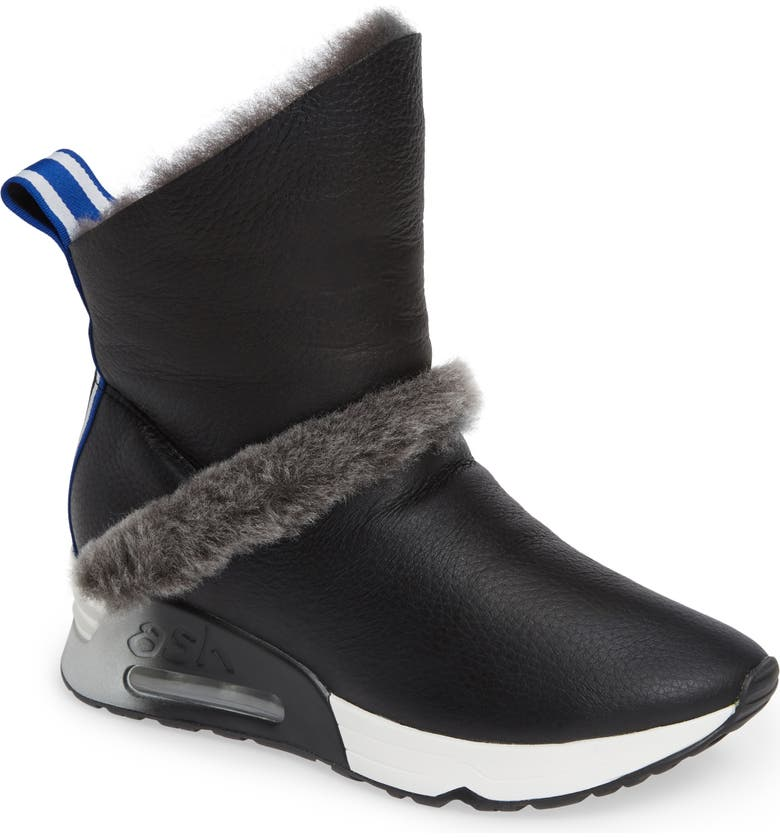 ASH Laika Genuine Shearling Bootie, Main, color, 002