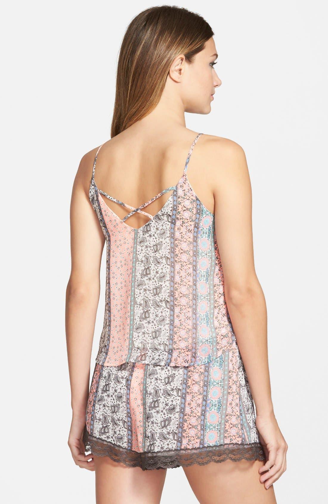 ,                             Lace Trim Floral Print Shorts,                             Alternate thumbnail 40, color,                             950