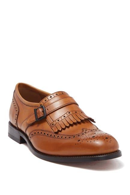 Image of MORAL CODE Broden Leather Wingtip Fringe Loafer