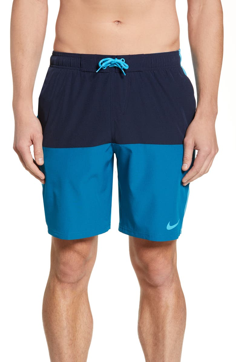 NIKE Split Volley Shorts, Main, color, OBSIDIAN