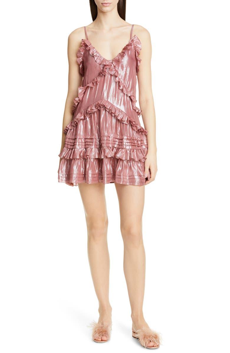 REBECCA TAYLOR Metallic Dress, Main, color, 690
