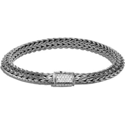 John Hardy Tiga Chain 6.m Black Rhodium Diamond Pave Bracelet