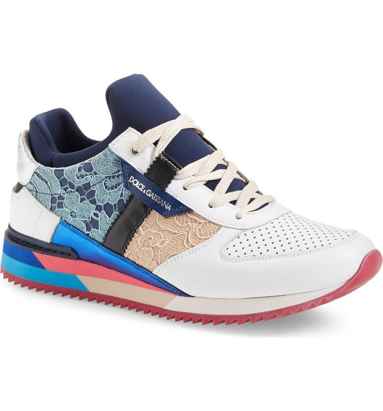 DOLCE&GABBANA 'Mailica' Sneaker, Main, color, 100