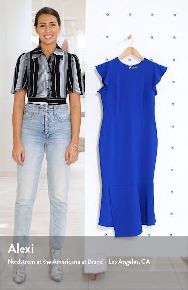 Flutter Sleeve Asymmetrical Hem Dress, sales video thumbnail