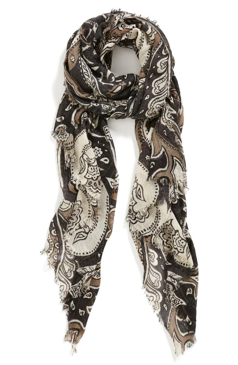 NORDSTROM Print Scarf, Main, color, 001