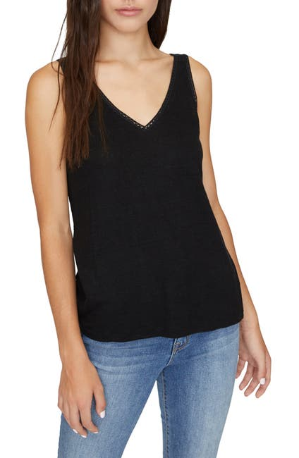 Image of Sanctuary Linn Crochet Mix Tank Top