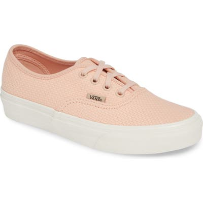 Vans Authentic Woven Check Sneaker, Pink