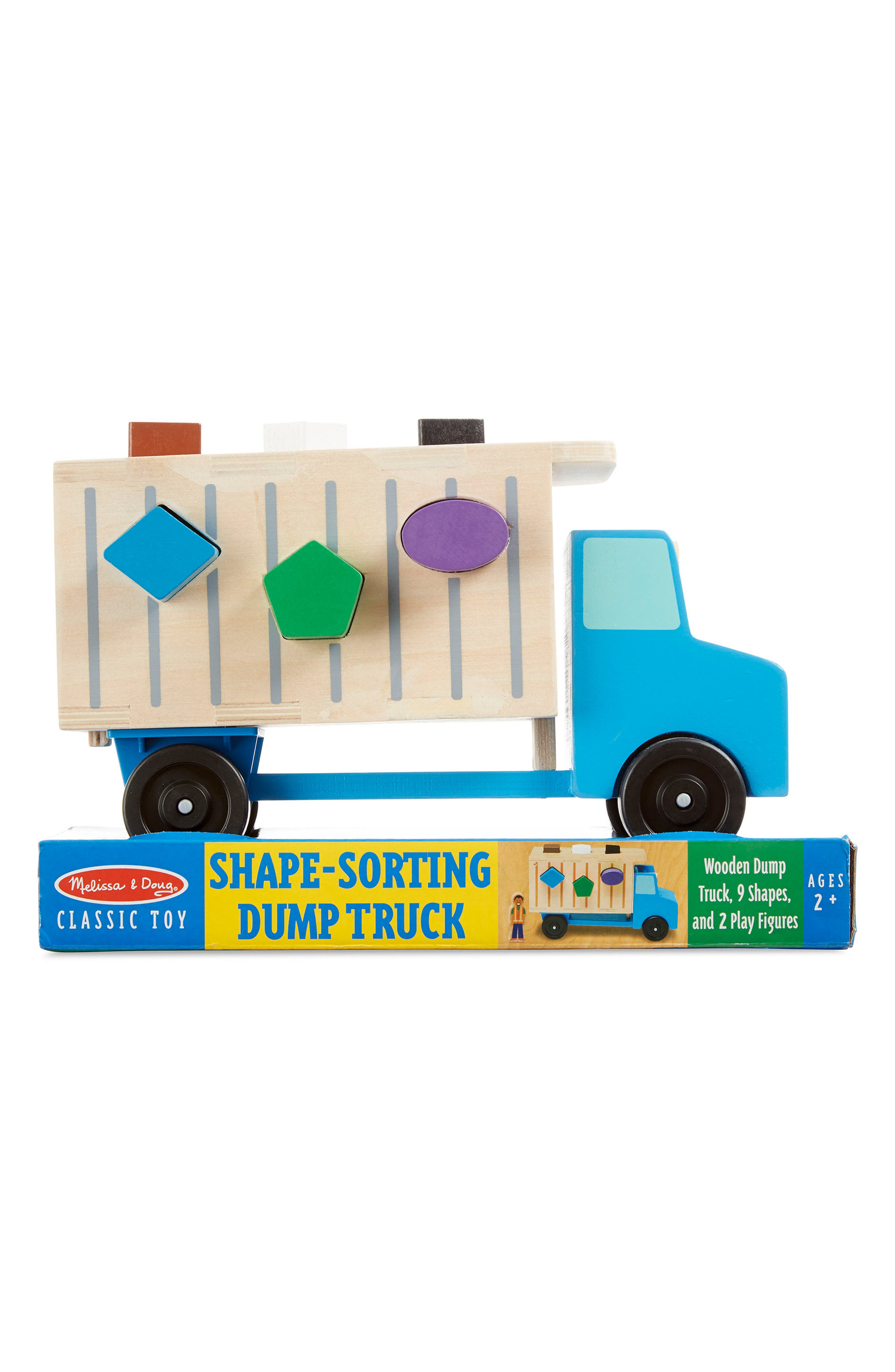 Image of Melissa & Doug 12-Piece Shape Sorting Dump Truck