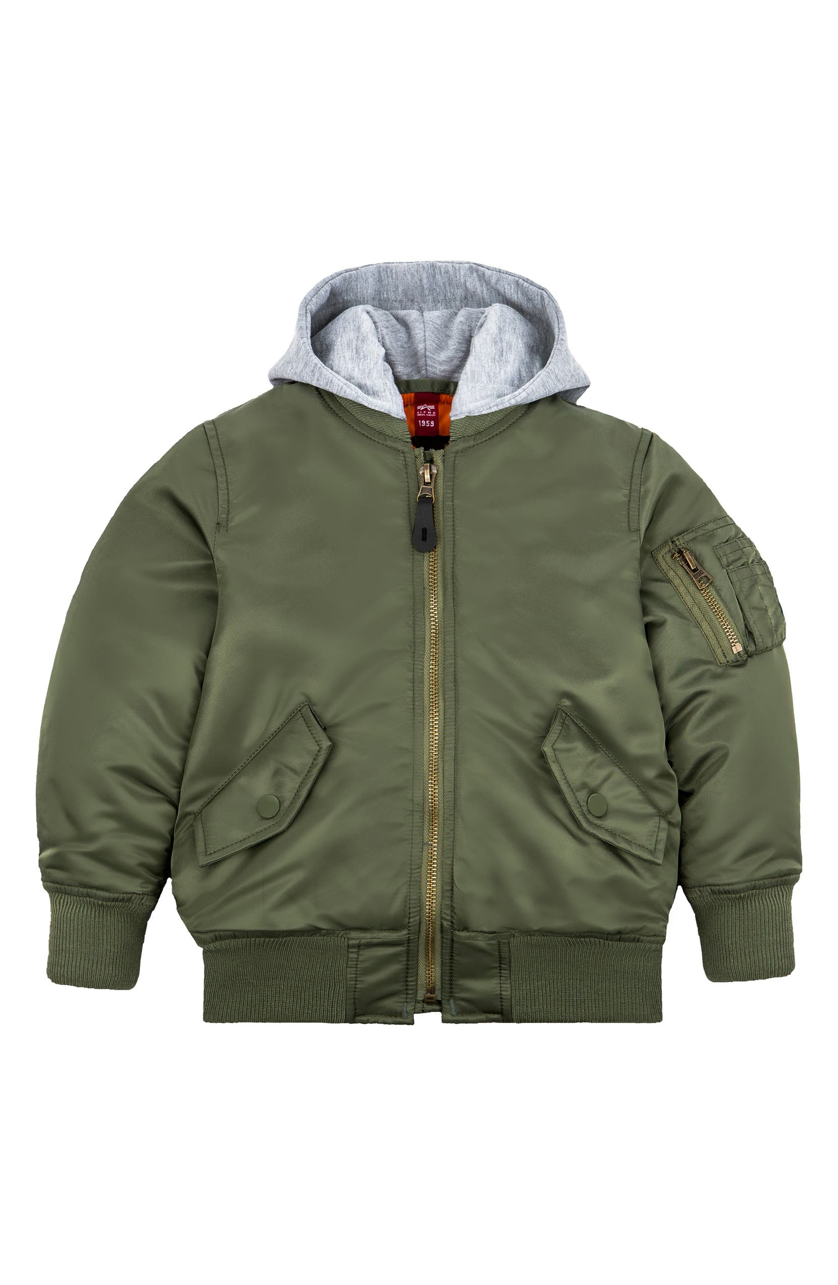 the latest 7a0d8 37c95 MA-1 Natus Hooded Bomber Jacket