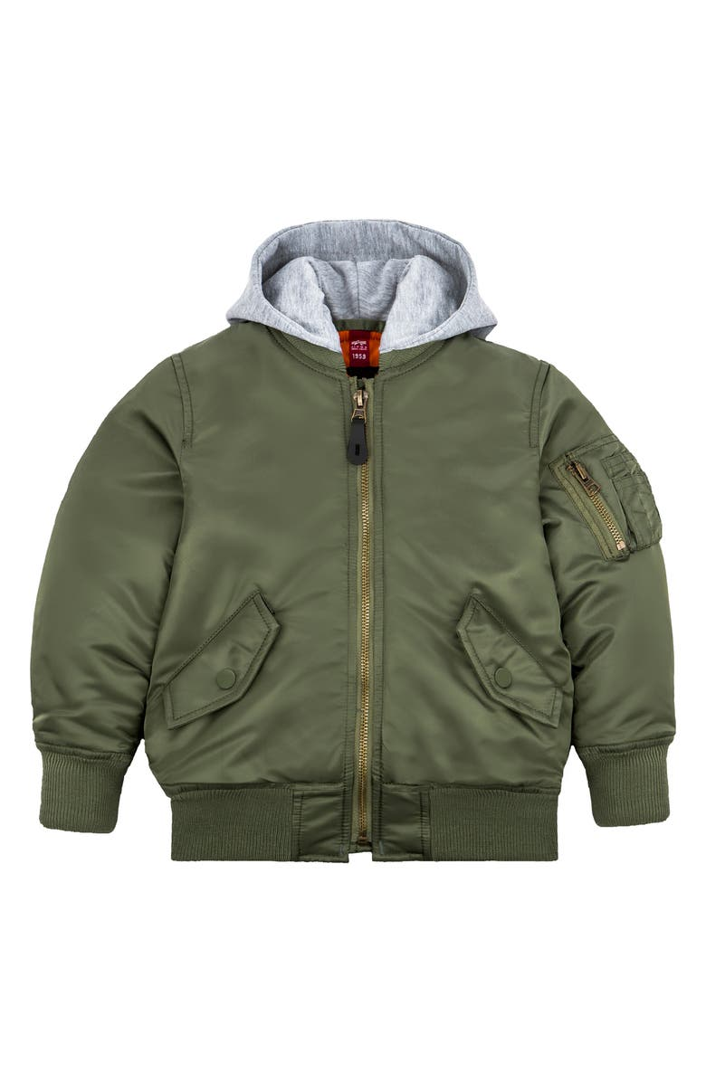 ALPHA INDUSTRIES MA-1 Natus Hooded Bomber Jacket, Main, color, 310