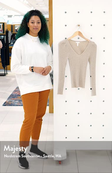 Ribbed Puff Sleeve Sweater, sales video thumbnail