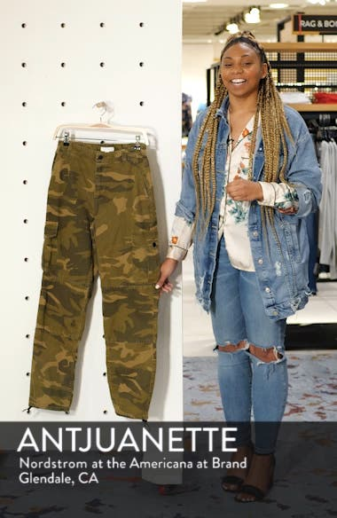 Frida Cropped Camouflage Trousers, sales video thumbnail