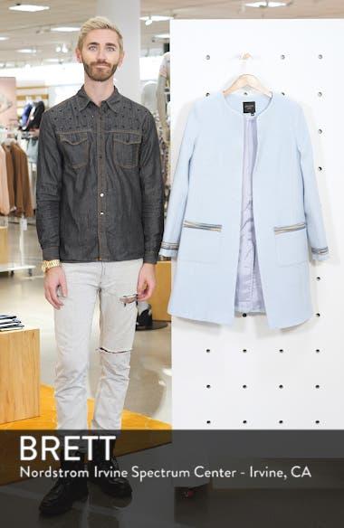 Clean Front Long Wool Jacket, sales video thumbnail