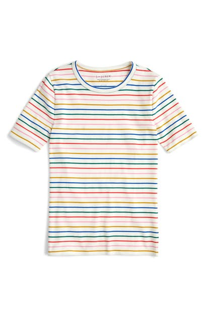 bb4896c9a10a J.Crew New Perfect Fit Tee In Candy Stripe Rainbow | ModeSens