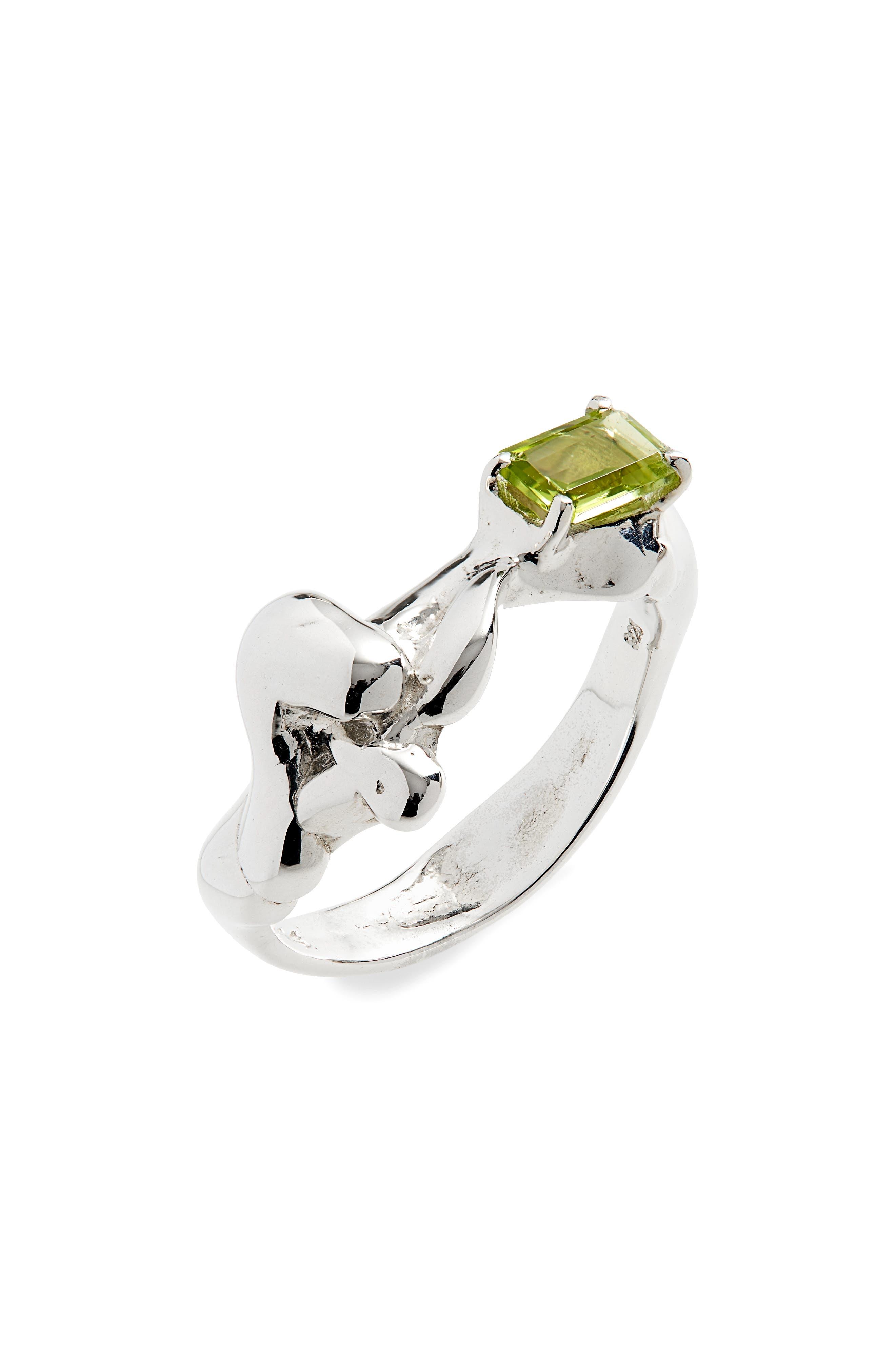 Lava Peridot Ring