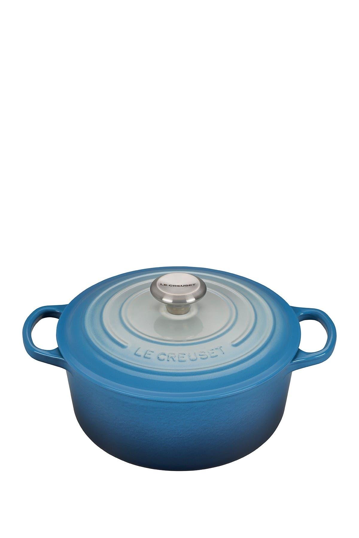 Image of Le Creuset Limited Time Blue Ombre 4.5 qt. Signature Round Dutch Oven