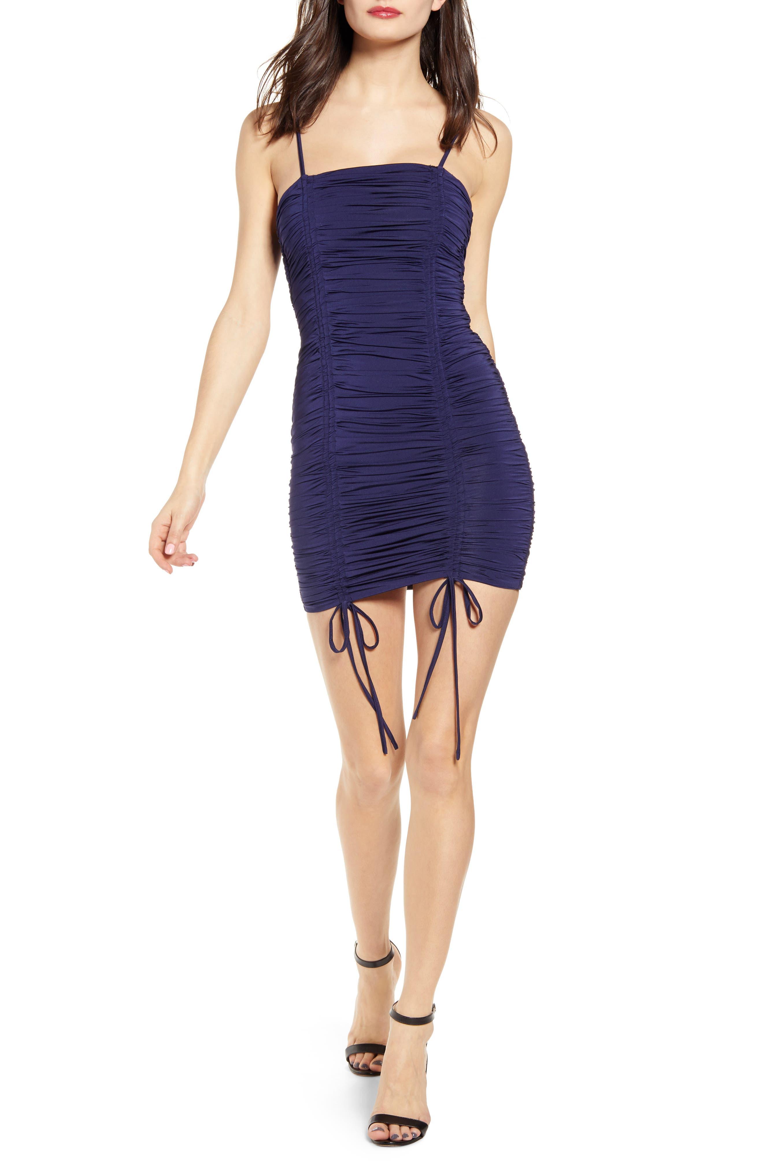 Tiger Mist Zion Ruched Mini Dress