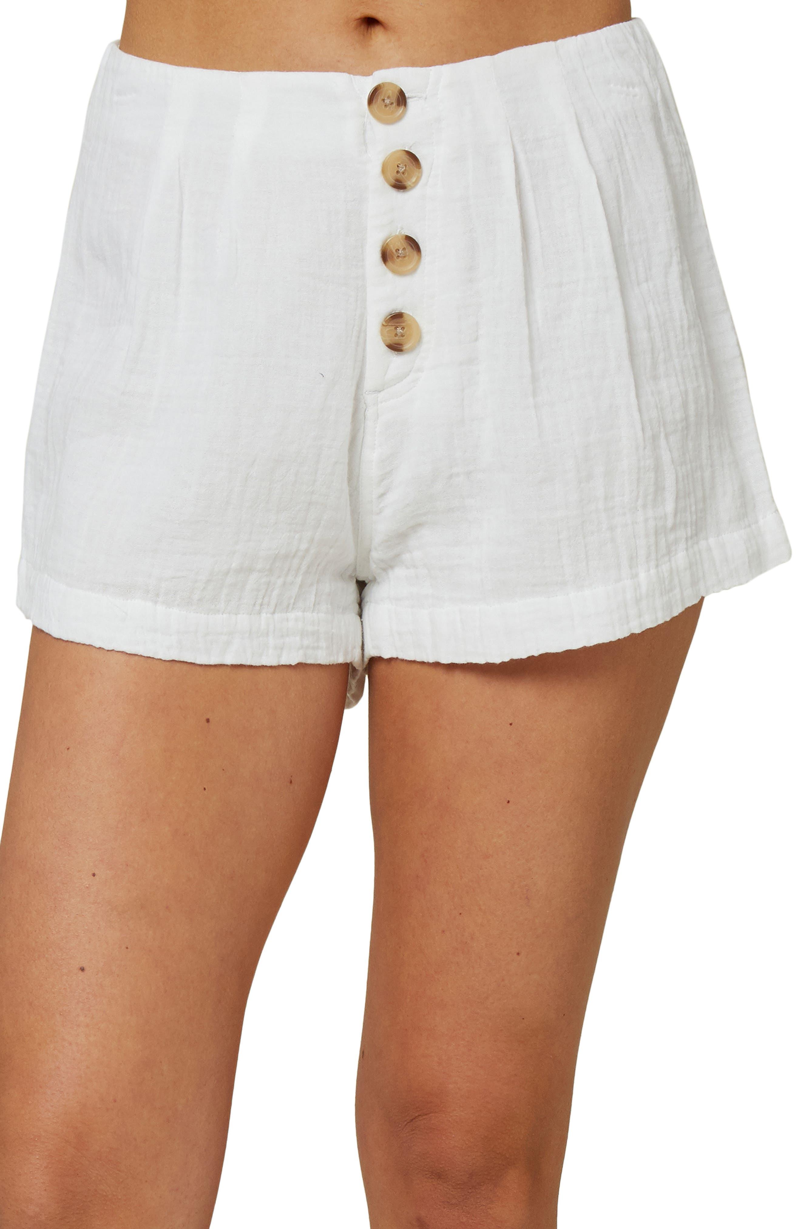 Women's O'Neill Henley Woven Shorts,  30 - White