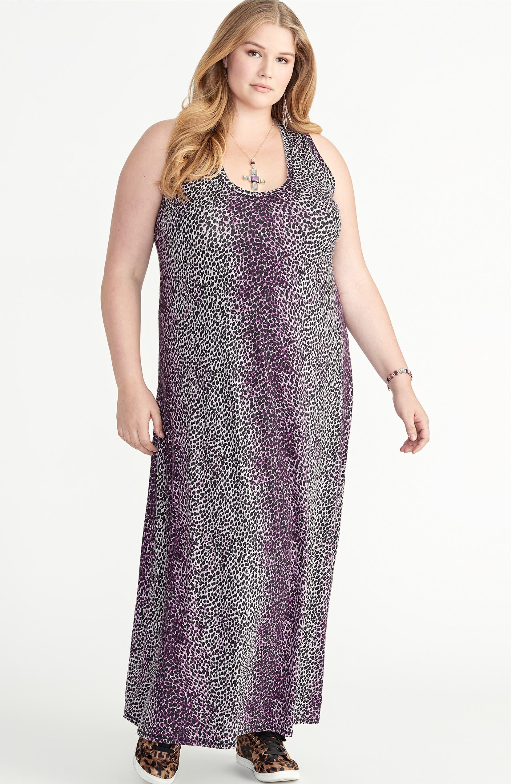Rachel Roy Samantha Leopard Print Maxi Dress (Plus Size ...
