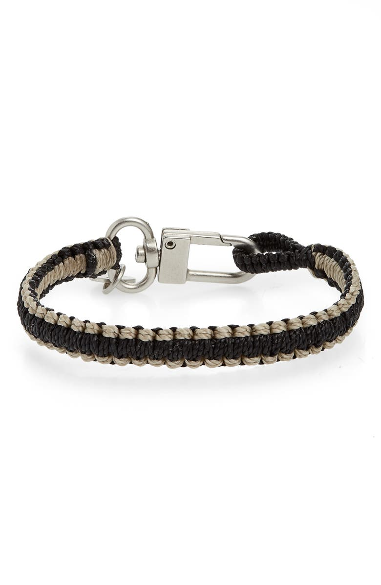 CAPUTO & CO. Reversible Knotted Bracelet, Main, color, BLACK COMBO