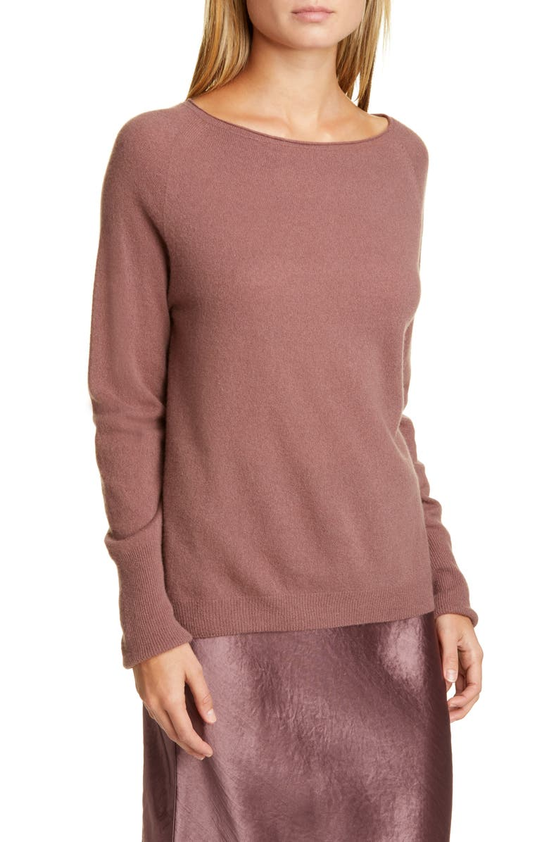 MAX MARA LEISURE Wool & Cashmere Sweater, Main, color, ANTIQUE ROSE