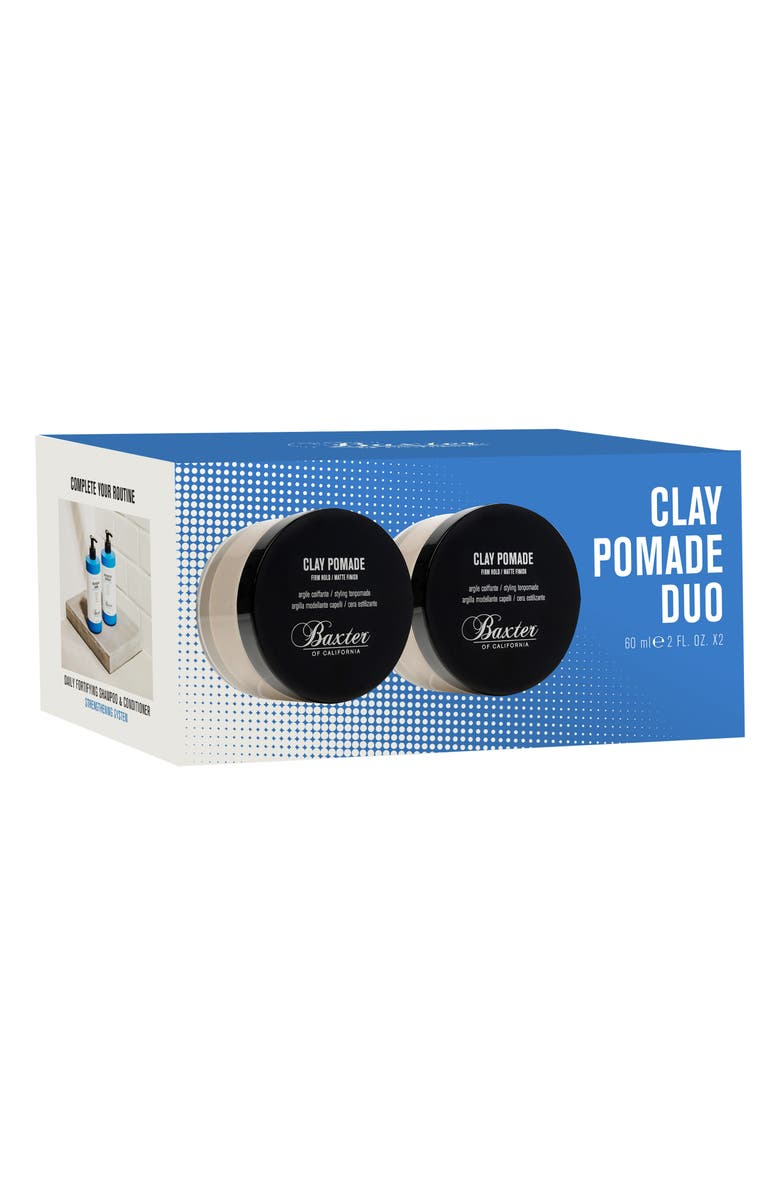 BAXTER OF CALIFORNIA Clay Pomade Duo, Main, color, 000