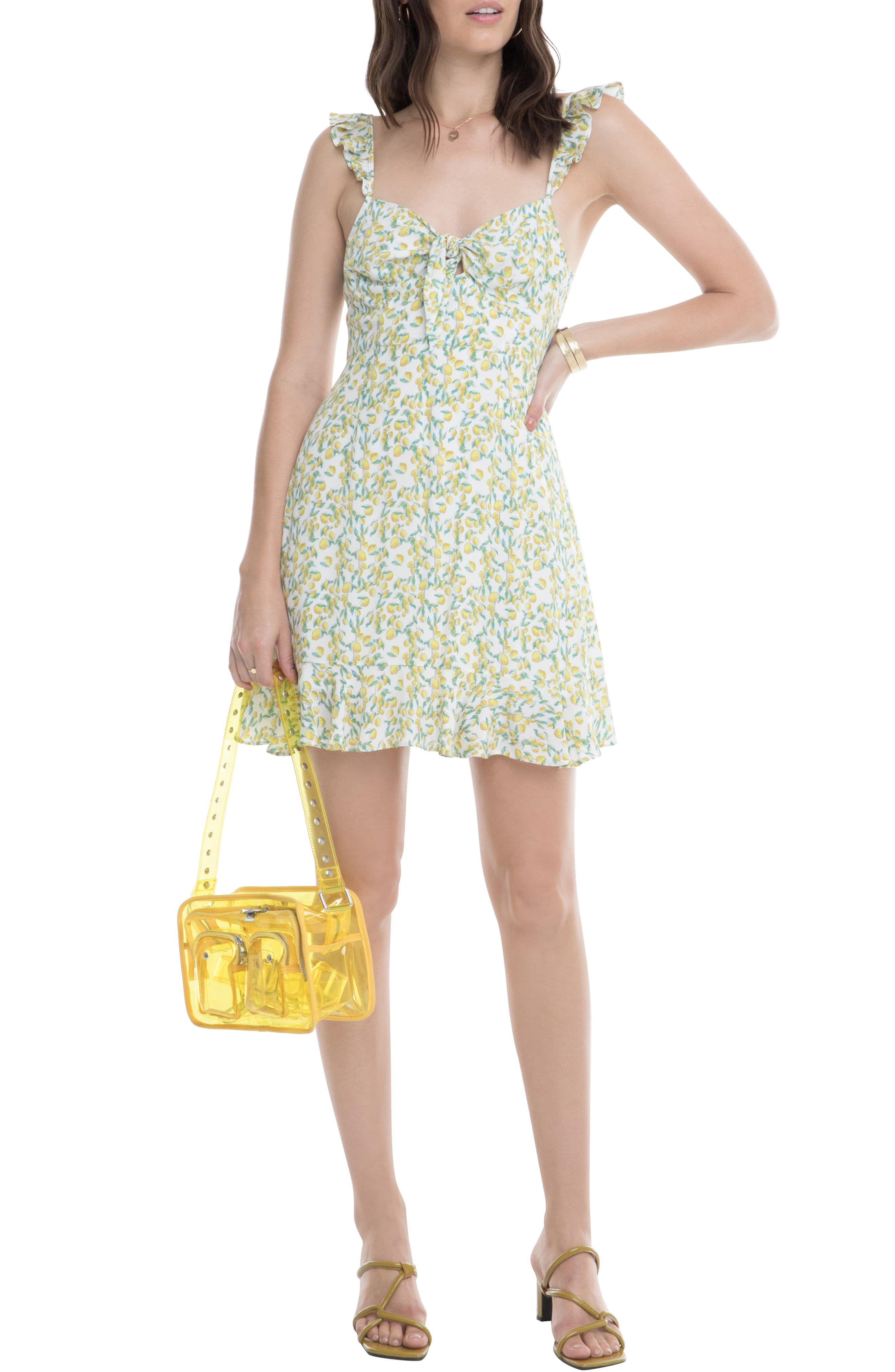 Astr The Label Marla Sundress, Yellow