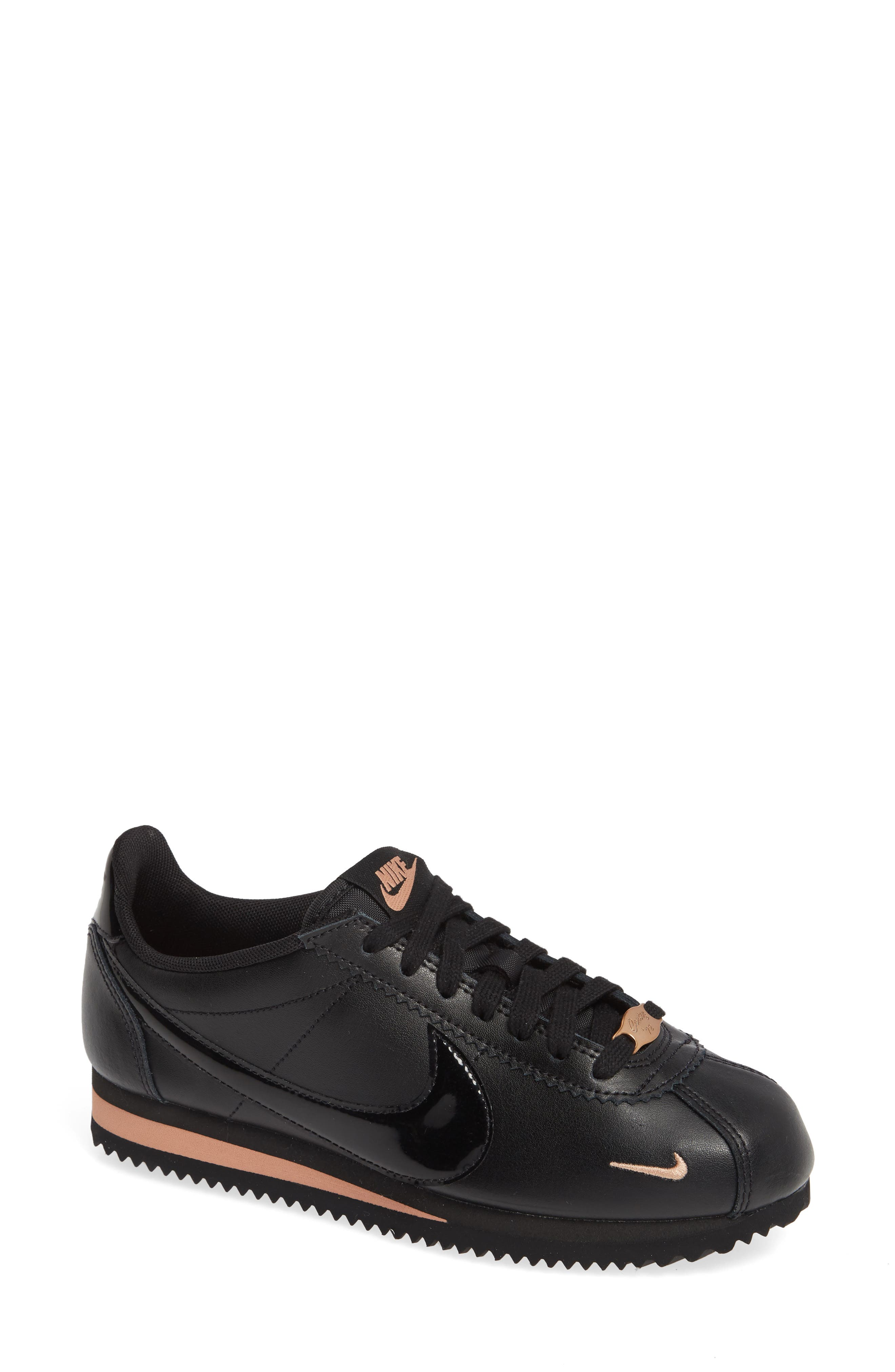 Classic Cortez Premium XLV Sneaker, Main, color, BLACK/ BLACK/ ROSE GOLD