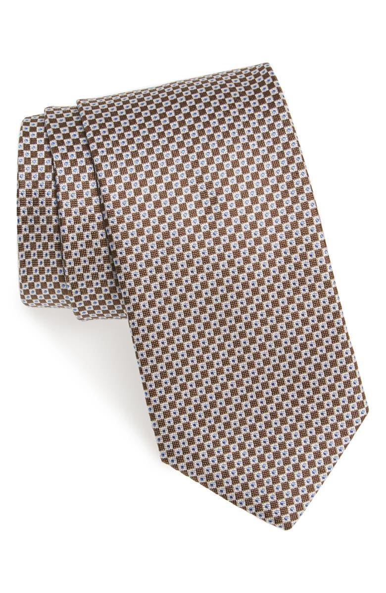 DAVID DONAHUE Geometric Silk Tie, Main, color, 212