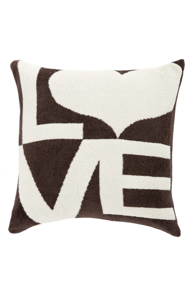 GIRAFFE AT HOME Dolce Love Throw Pillow, Main, color, CHOCOLATE