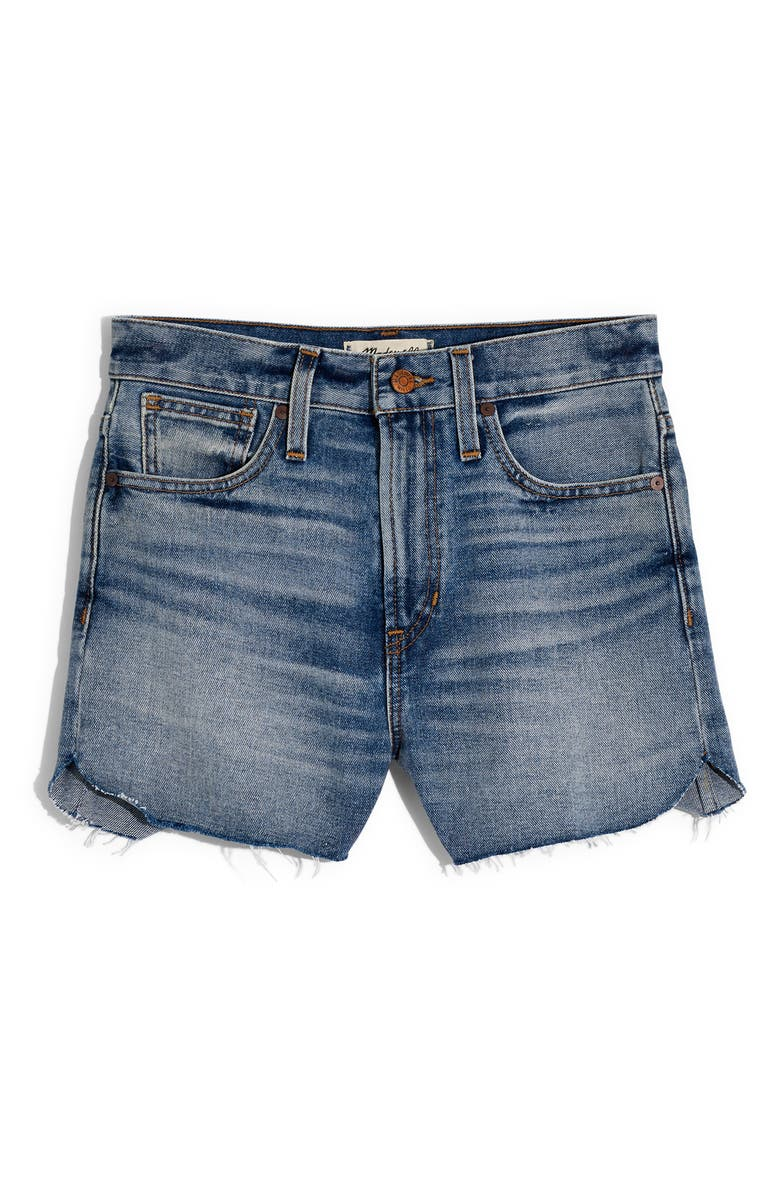 The Perfect Tulip Hem Denim Shorts, Alternate, color, BAY WASH