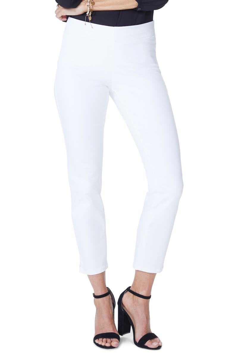 NYDJ Pull-On Ankle Skinny Jeans, Main, color, OPTIC WHITE
