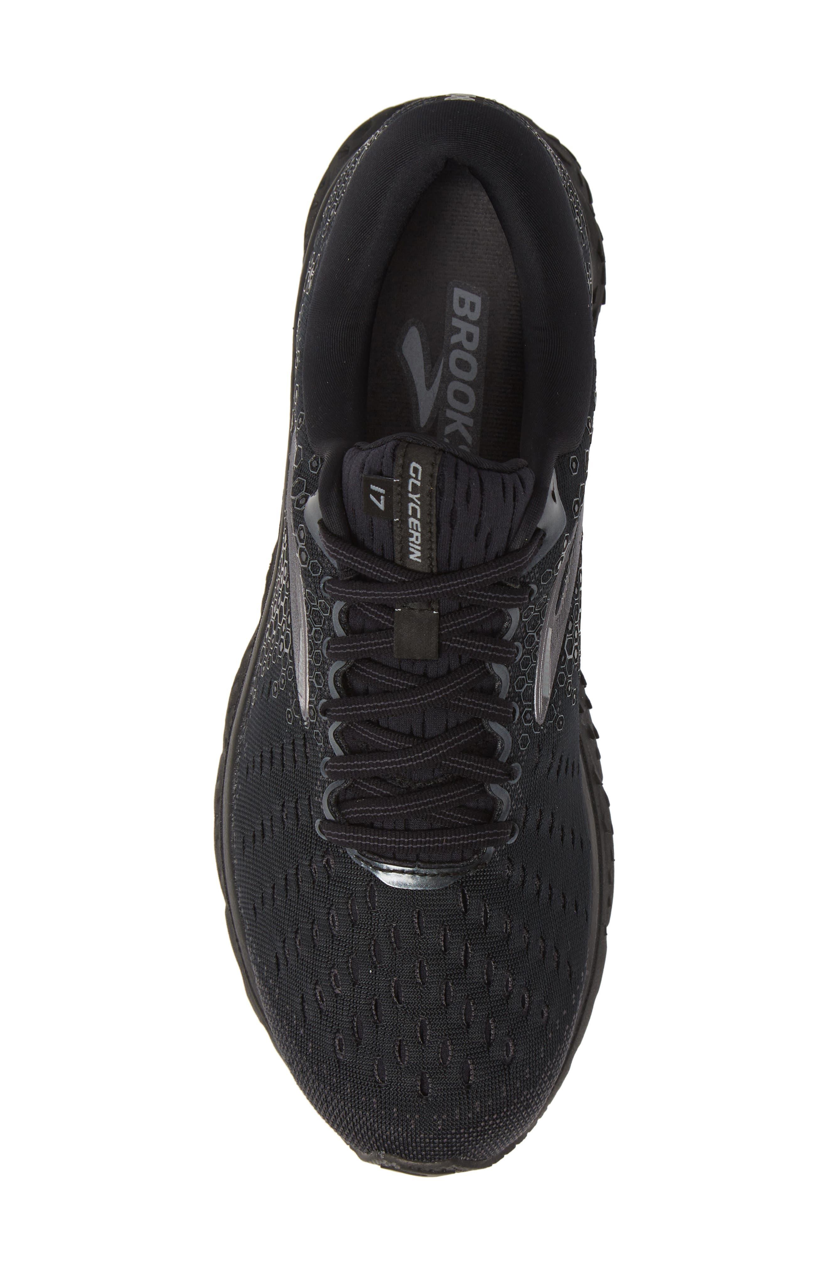 ,                             Glycerin 17 Running Shoe,                             Alternate thumbnail 5, color,                             BLACK/ EBONY