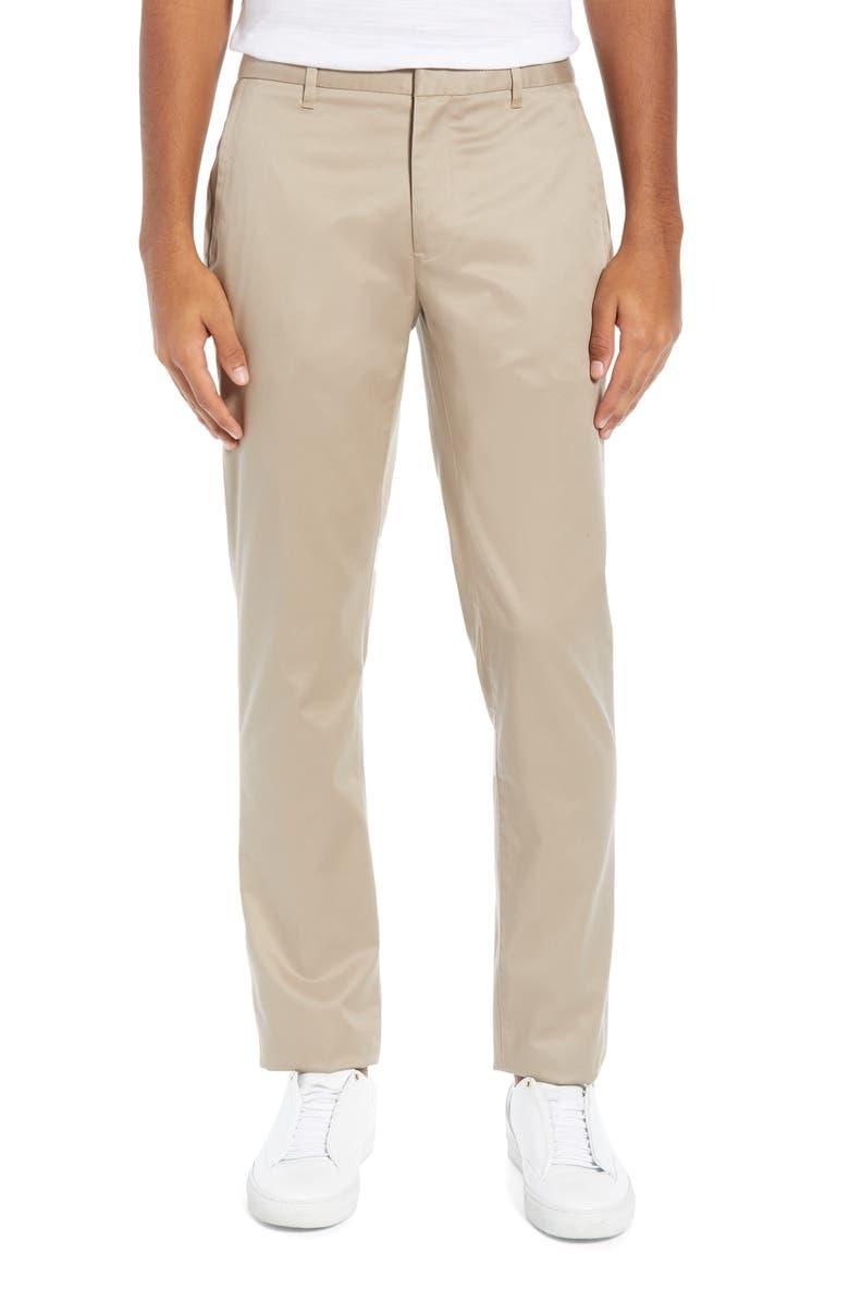 BONOBOS Weekday Warrior Slim Fit Stretch Dress Pants, Main, color, WEDNESDAY TAN