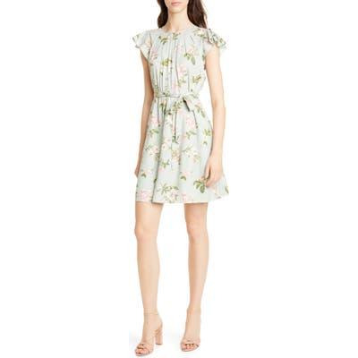 Rebecca Taylor Lita Floral Print Silk Blend Dress
