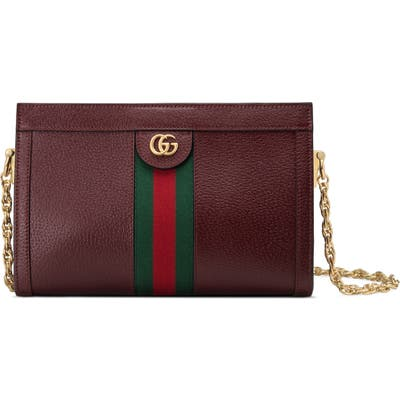 Gucci Smallleather Shoulder Bag - Burgundy