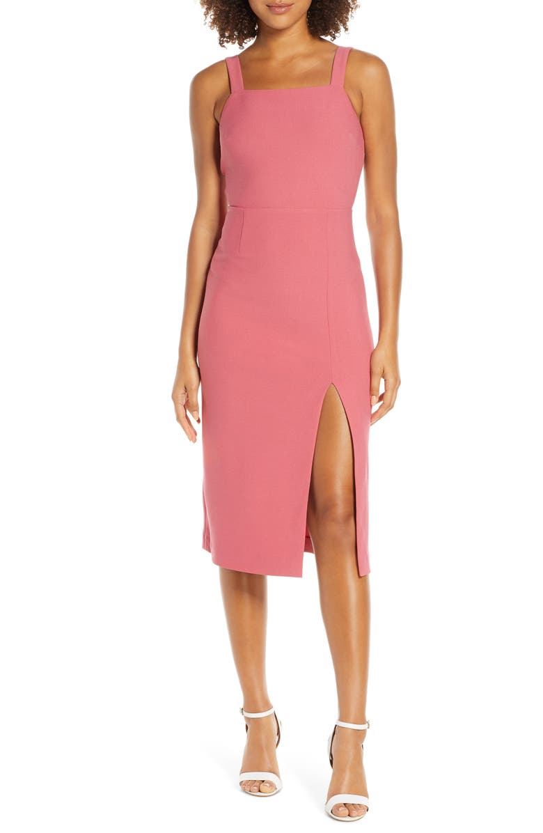 FINDERS KEEPERS Palermo Sheath Dress, Main, color, ROSE