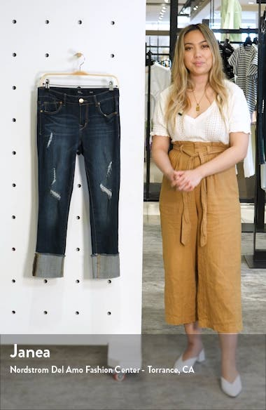 Distressed Roll Cuff Jeans, sales video thumbnail