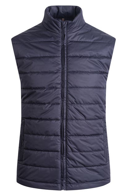 Bugatchi Quilted Vest In Navy
