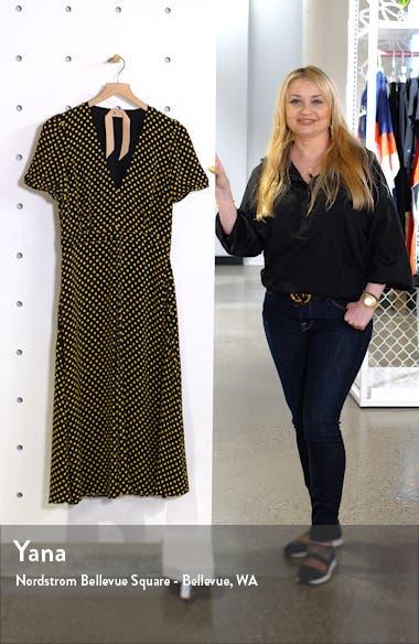Nº21 Plunging Polka Dot Midi Dress, sales video thumbnail